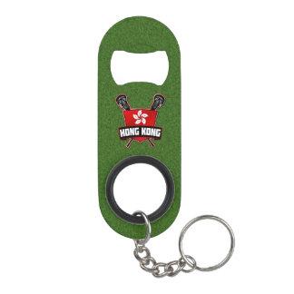 Hong Kong Flag Lacrosse Logo Keychain Bottle Opener