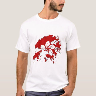 Hong Kong flag map T-Shirt