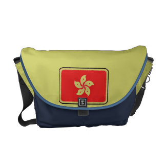 Hong Kong flag messenger bag