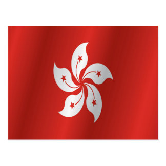 Hong Kong flag Postcard