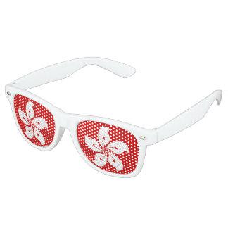 Hong Kong Flag Retro Sunglasses