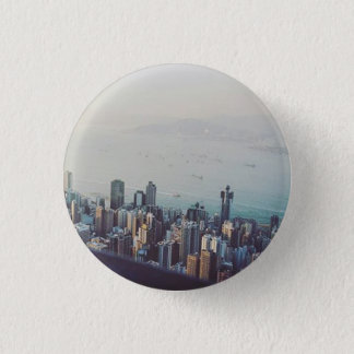 Hong Kong From Above 1 Inch Round Button