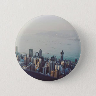 Hong Kong From Above 2 Inch Round Button