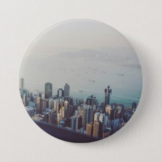 Hong Kong From Above 3 Inch Round Button