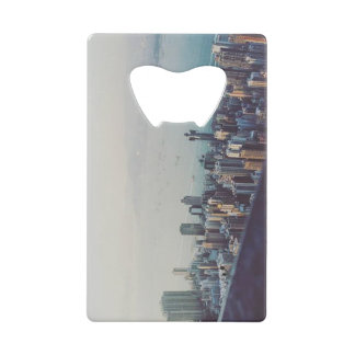 Hong Kong From Above Credit Card Bottle Opener