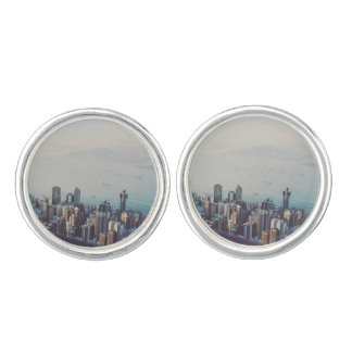 Hong Kong From Above Cuff Links