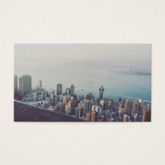 Hong Kong From Above Custom Design Business Card