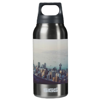 Hong Kong From Above Insulated Water Bottle