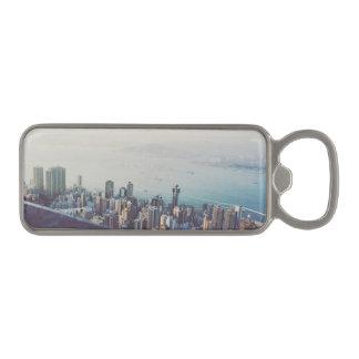 Hong Kong From Above Magnetic Bottle Opener