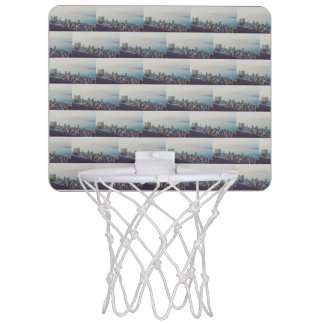 Hong Kong From Above Pattern Mini Basketball Hoop