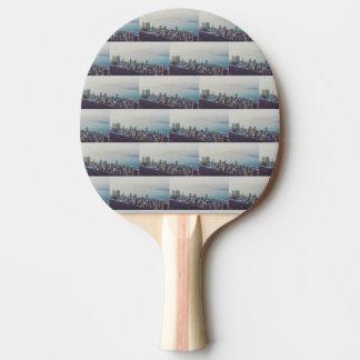 Hong Kong From Above Pattern Ping Pong Paddle