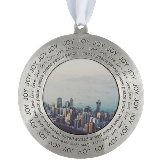 Hong Kong From Above Pewter Ornament