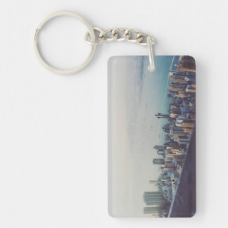Hong Kong From Above Single-Sided Rectangular Acrylic Keychain
