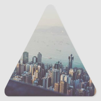 Hong Kong From Above Triangle Sticker