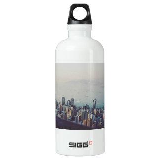Hong Kong From Above Water Bottle