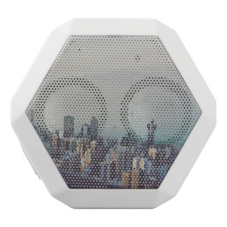 Hong Kong From Above White Bluetooth Speaker
