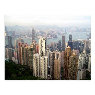 Hong Kong from the peak Postcard