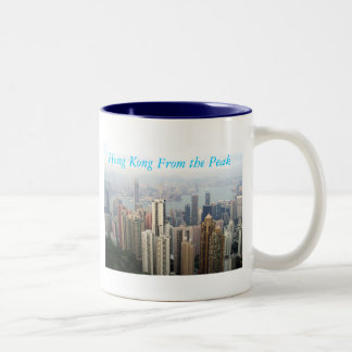 Hong Kong From The Peak Two-Tone Coffee Mug
