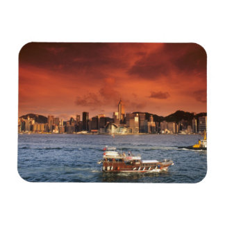 Hong Kong Harbor at Sunset Magnet