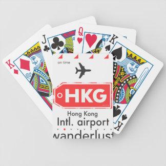Hong Kong HKG airport code Bicycle Playing Cards