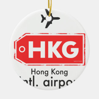 Hong Kong HKG airport code Ceramic Ornament
