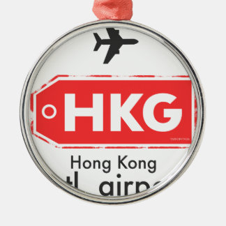 Hong Kong HKG airport code Metal Ornament