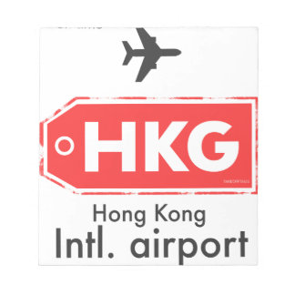 Hong Kong HKG airport code Notepad