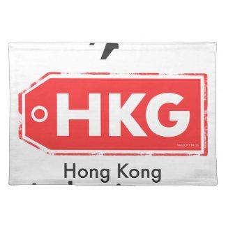Hong Kong HKG airport code Placemat