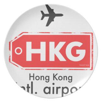 Hong Kong HKG airport code Plate