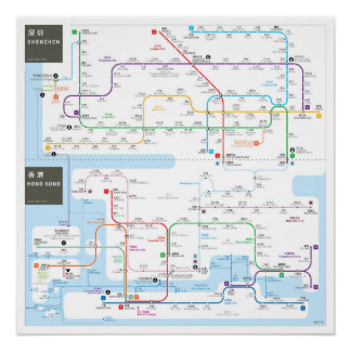 Hong Kong INAT map Perfect Poster