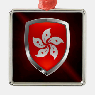 Hong Kong Metallic Emblem Metal Ornament