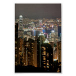 Hong Kong Night Skyline from Victoria Peak Poster