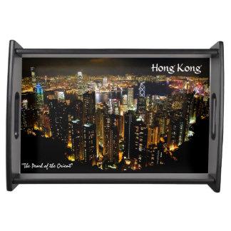 Hong Kong Nightscape Serving Tray