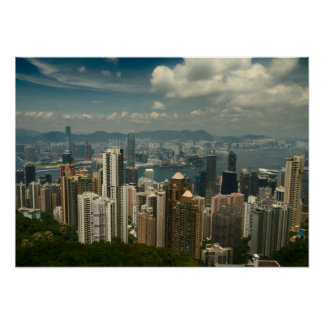 Hong Kong peak Day Poster