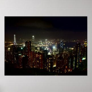 Hong Kong peak Night poster