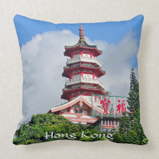 Hong Kong Pearl of the Orient Throw Pillow