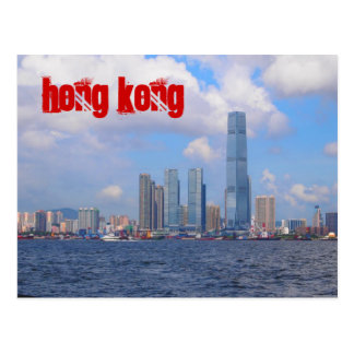 Hong Kong Postcards with Red Text