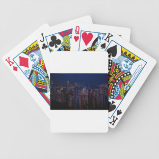 Hong Kong Skyline Bicycle Playing Cards