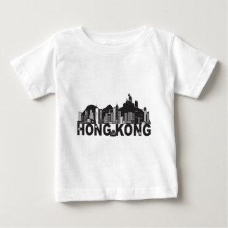 Hong Kong Skyline Buddha Statue Text Baby T-Shirt