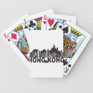 Hong Kong Skyline Buddha Statue Text Bicycle Playing Cards