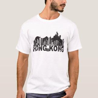 Hong Kong Skyline Buddha Statue Text T-Shirt