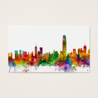 Hong Kong Skyline Business Card