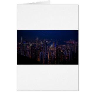 Hong Kong Skyline Card