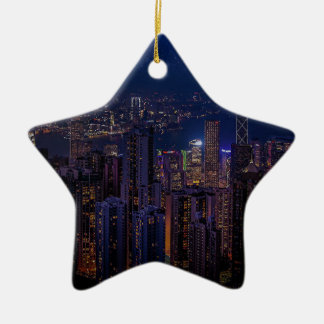 Hong Kong Skyline Ceramic Ornament