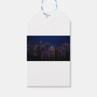 Hong Kong Skyline Gift Tags