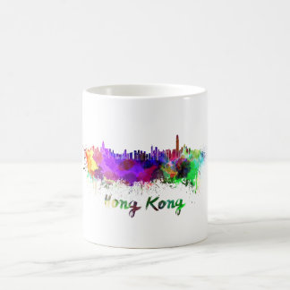 Hong Kong skyline in watercolor Coffee Mug