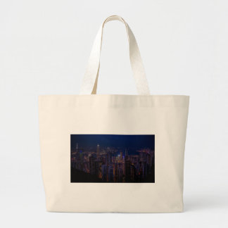 Hong Kong Skyline Large Tote Bag