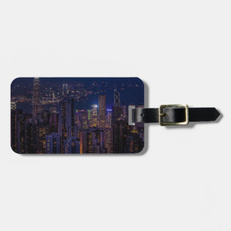 Hong Kong Skyline Luggage Tag