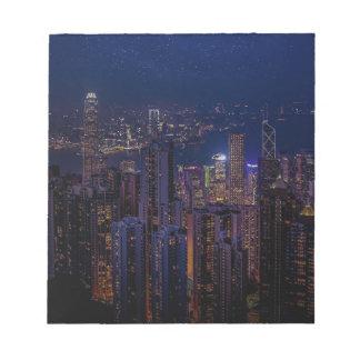 Hong Kong Skyline Notepad