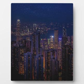 Hong Kong Skyline Plaque